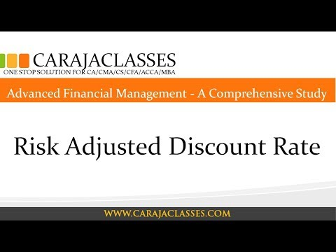Risk Adjusted Discount Rate