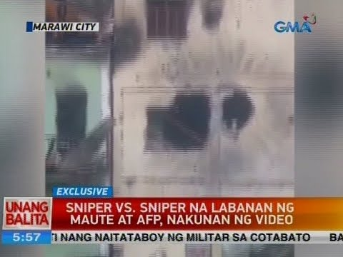 UB: Sniper vs. sniper na labanan ng Maute at AFP, nakunan ng video