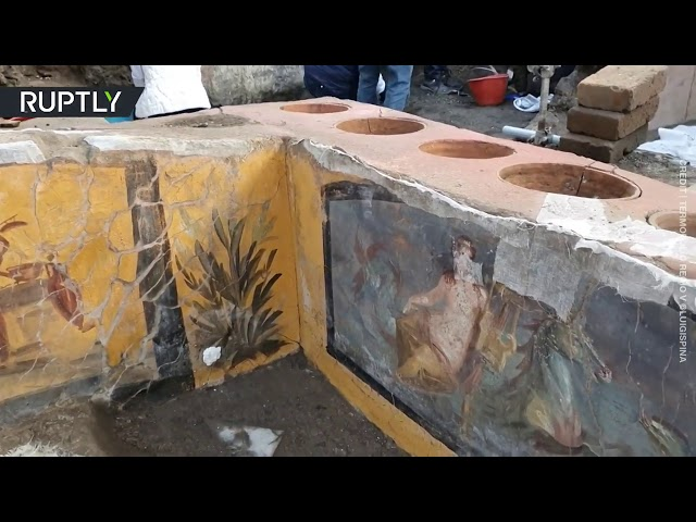 Fast-food stall from Roman era uncovered in Pompeii, Italy