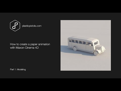 How to create a folding paper animation with C4D - Part 1, Modeling