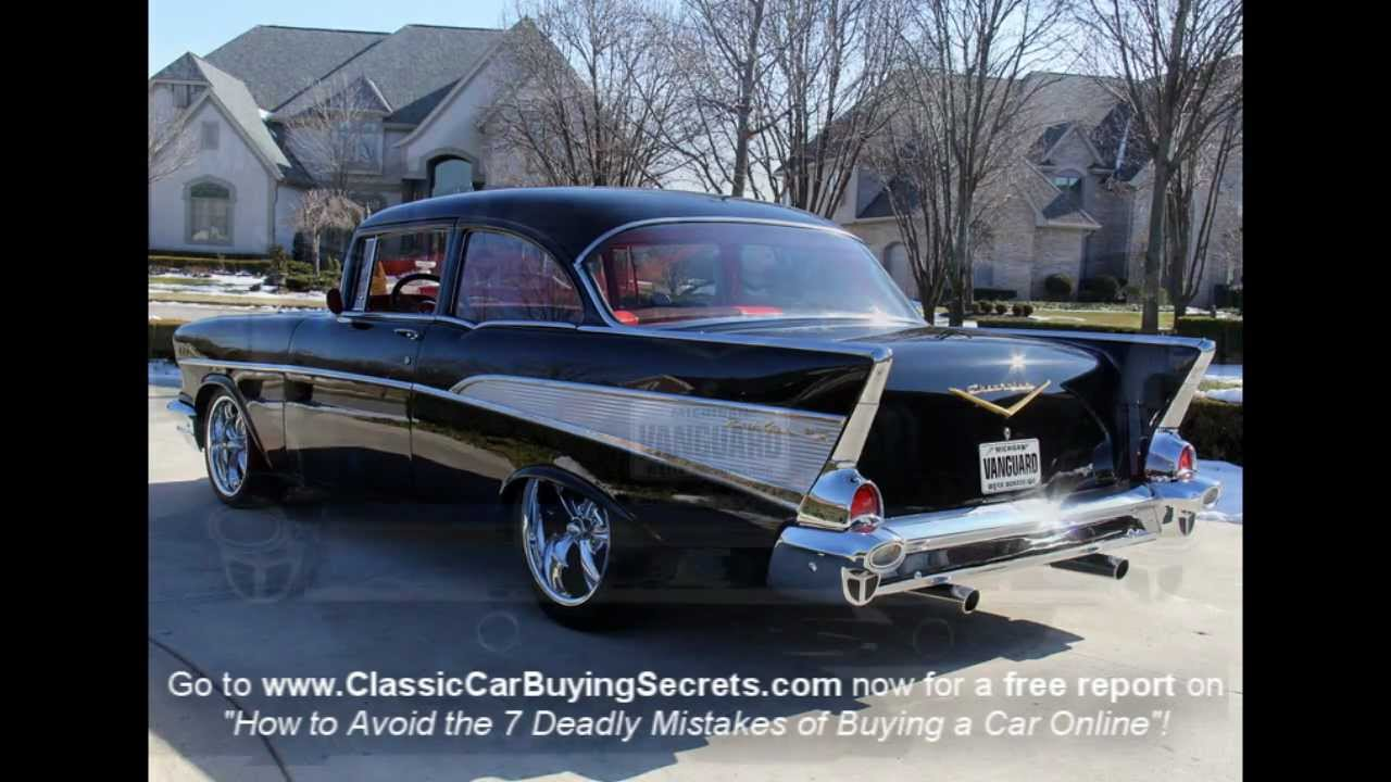 1957 Chevy Bel Air Big Block Classic Muscle Car for Sale in MI     1957 Chevy Bel Air Big Block Classic Muscle Car for Sale in MI Vanguard  Motor Sales   YouTube