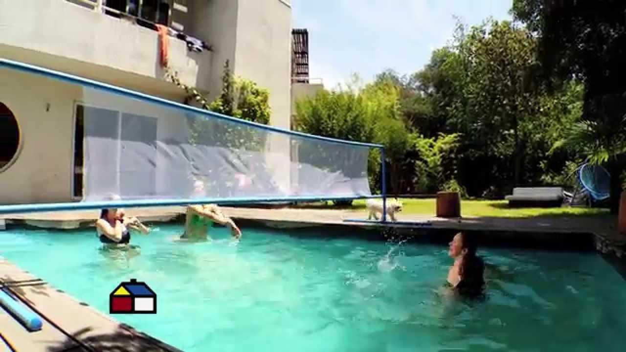 C mo hacer una red de voleibol acu tico youtube for Costo para hacer una piscina