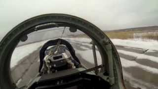 L-39. Second cockpit 3. Start-up, taxiing, take-off. GoPro
