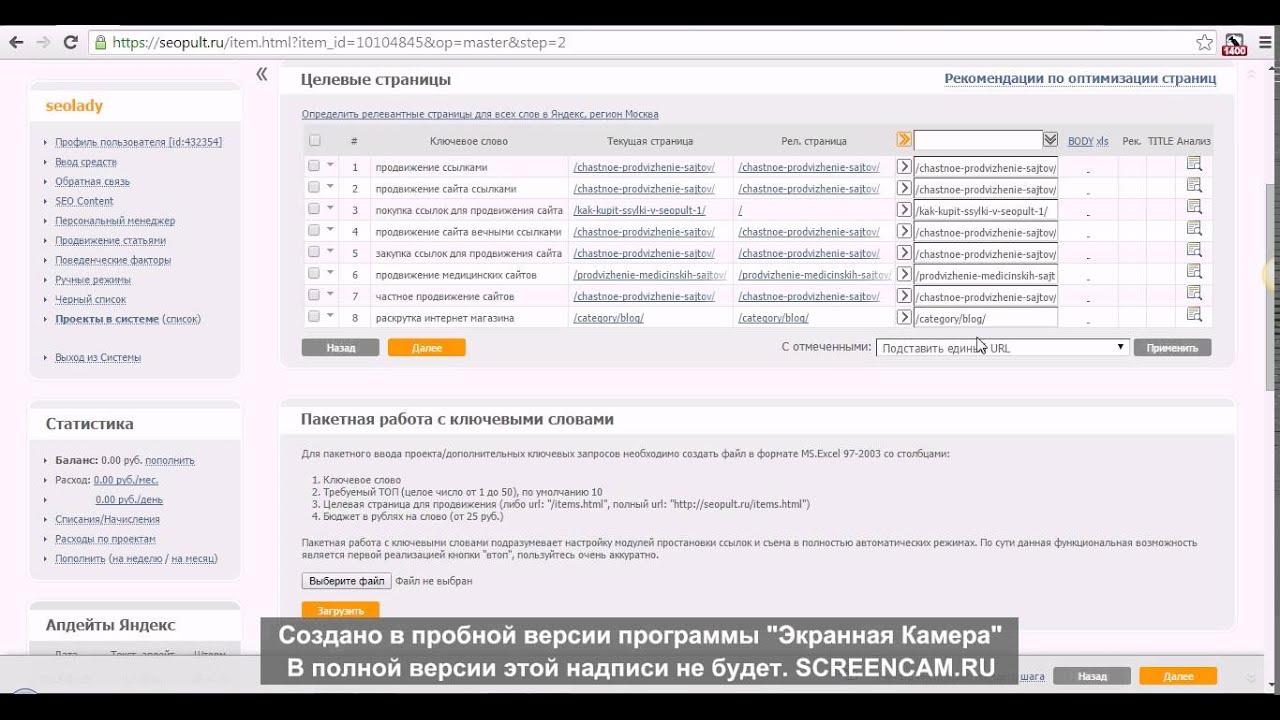 Продвижение сайта через сеопульт ctr group создание и продвижение сайтов