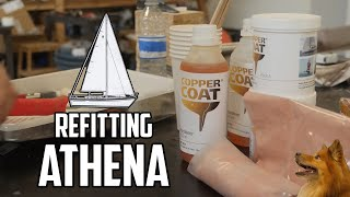 Sail Life - Finishing Athena's new rudder & making rudder bushings - DIY sailboat repair