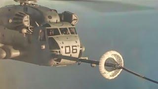 Inflight Refueling • KC-130 Hercules to CH-53 Super Stallion