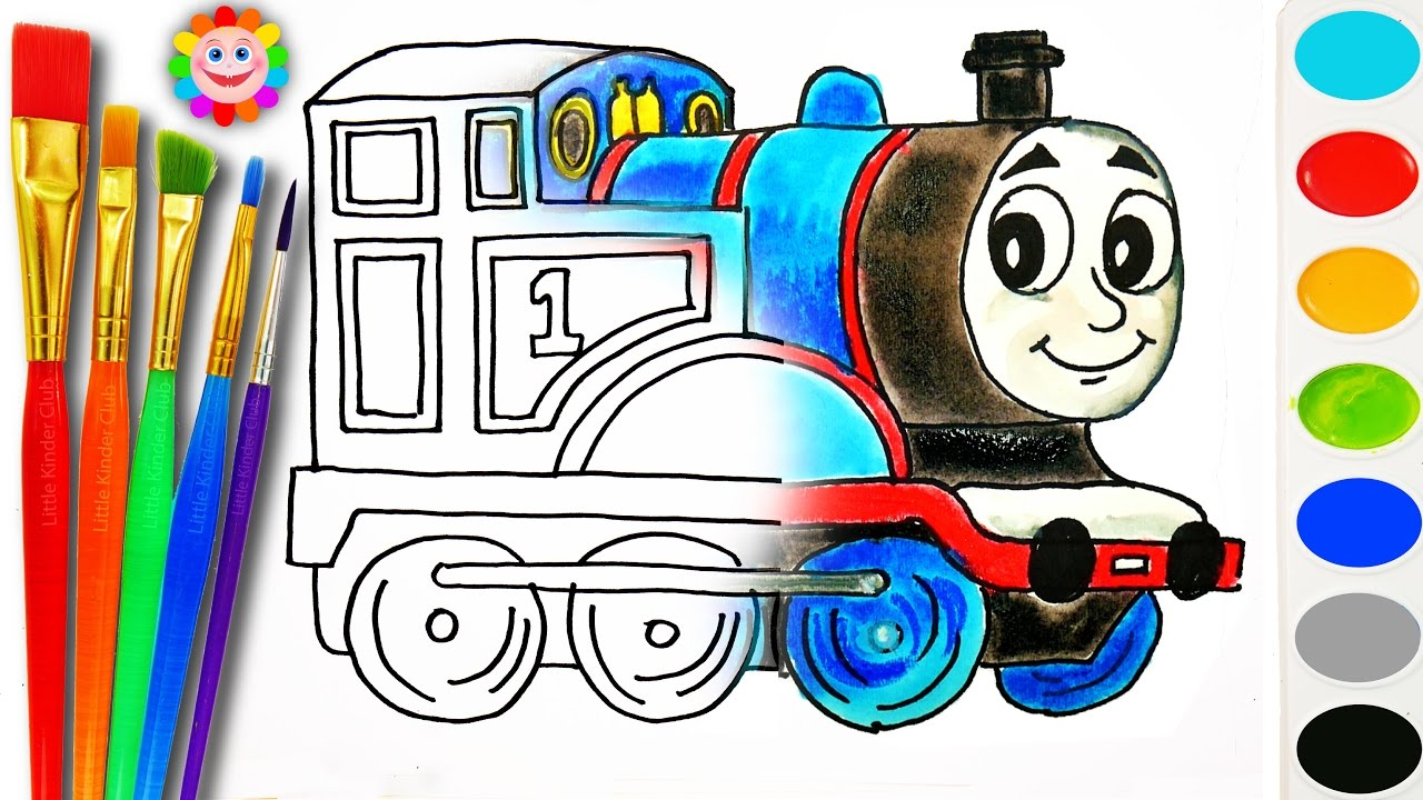 coloring with thomas and fiends how to draw thomas the tank engine