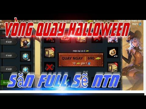 Liên Quân: Chơi Full Vòng Quay Halloween săn trang phục Điêu Thuyền Phù Thủy Bí Ngô và Maloch Bí Ngô