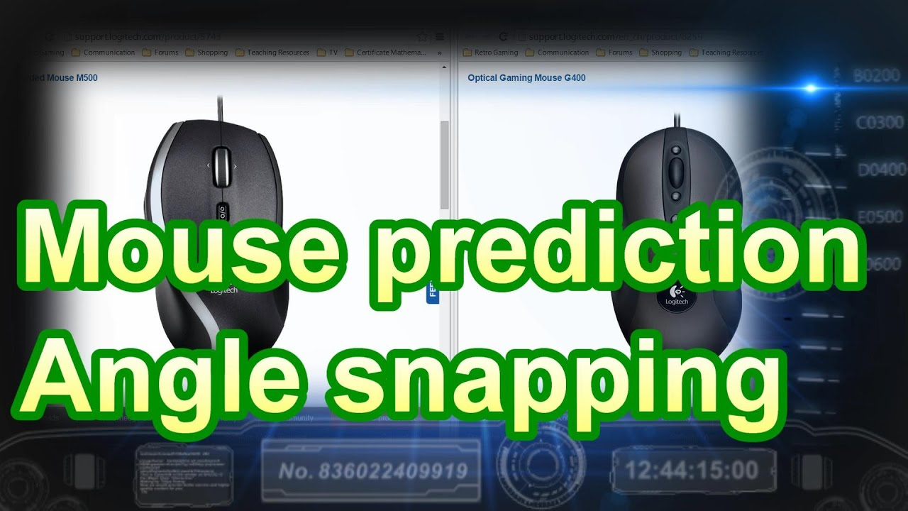 Mouse prediction or Angle snapping