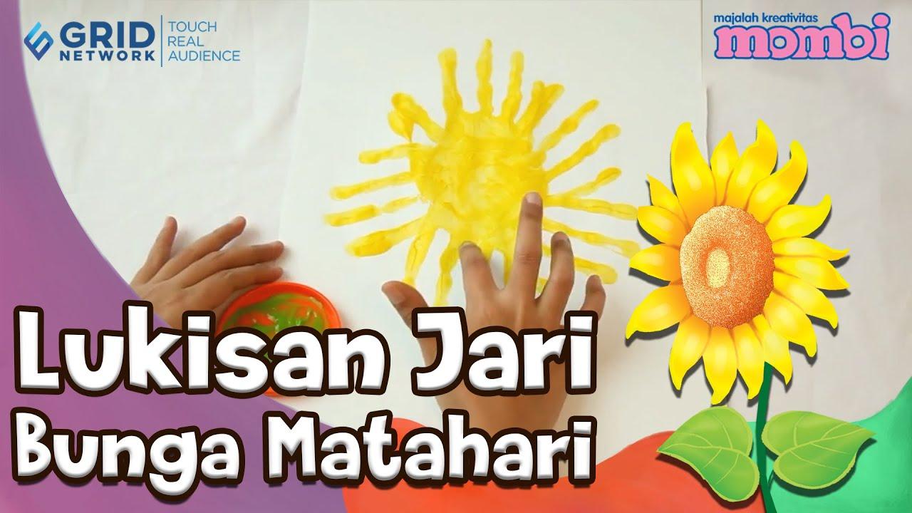Lukisan Jari Bunga Matahari Youtube