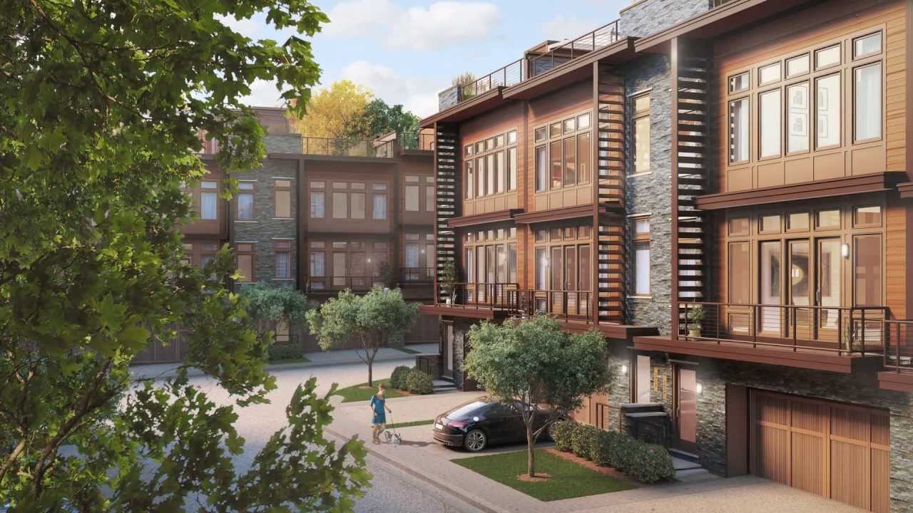 little falls place new townhomes in bethesda, maryland - youtube