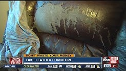Don't Waste Your Money:  Beware of inexpensive leather furniture