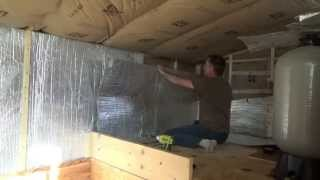Finishing Off Grid Tiny House Loft Bedroom Insulation & Radiant Foil