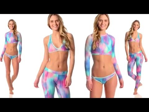 Funky print yoga pants and string bikini