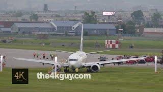 Montreal: Westjet airplane overshoots runway at YUL airport 6-5-2015