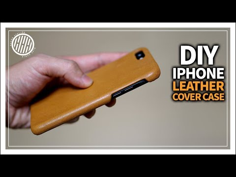 [Leather Craft] DIY Iphone leather case / How to make Leather phone case