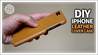 [Leather Craft] DIY Iphone leather case / How to make Leather phone case / Tutorial/