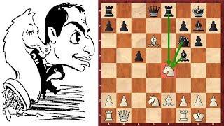 Шахматы. Михаил Таль жертвует фигуру в любимой защите Бенони!