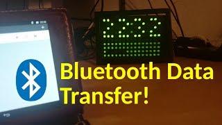 Joe's Arduino LED matrix display (clip 2/2): Bluetooth transfer