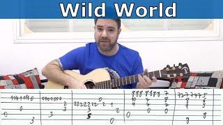 Fingerstyle Tutorial: Wild World (C. Stevens) -- Guitar Lesson w/ TAB  |  LickNRiff