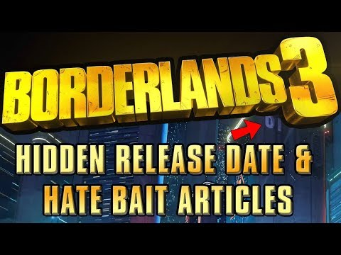 Borderlands 3 – Release Date & Journalist Hate Already?
