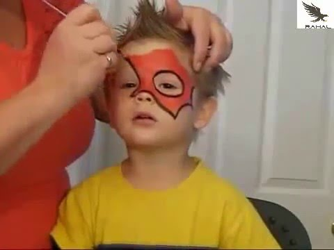 Learned To Paint On Your Child S Face Spider Man تعلم الرسم على وجه طفلك Youtube