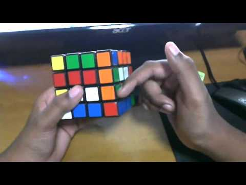 how to solve a 4x4 rubiks cube(part 3-last 2 edges)