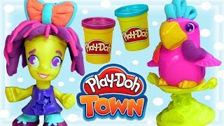 Play Doh Town • FRYZJERKA • Kolorowe Fryzury • kreatywne zabawy