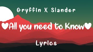 Gryffin, Slander - All You Need To Know (Lyrics) ft. Calle Lehmann