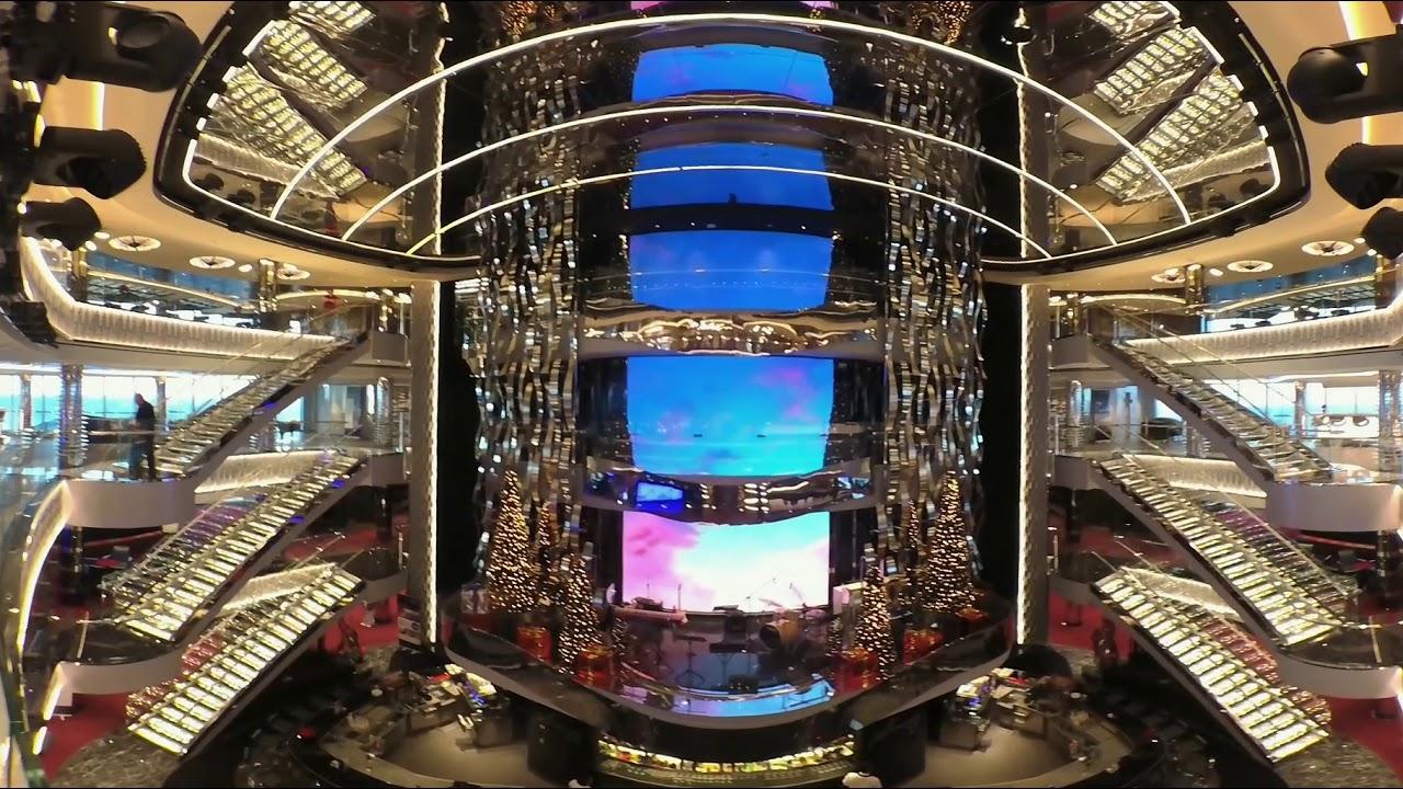 4K/360 - MSC Seaside Atrium Walkthrough - YouTube