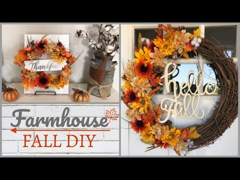 Fall Dollar Tree DIY | Wreath