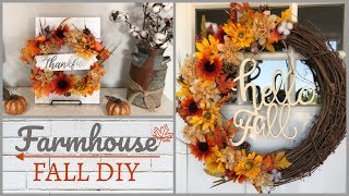 Fall Dollar Tree DIY | Wreath | 2018