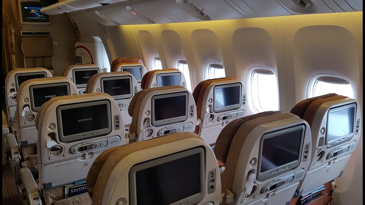 Singapore Airlines Economy Class 777: SQ Part 1 - YouTube