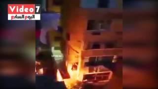 بالفيديو.. لحظة انهيار عقار فى حى كليوباترا بالإسكندرية