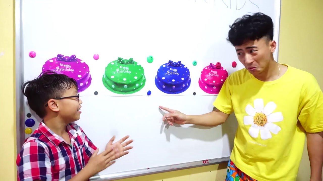 Hunter Kids Go To School Learn Colors Cake Happy Birthday