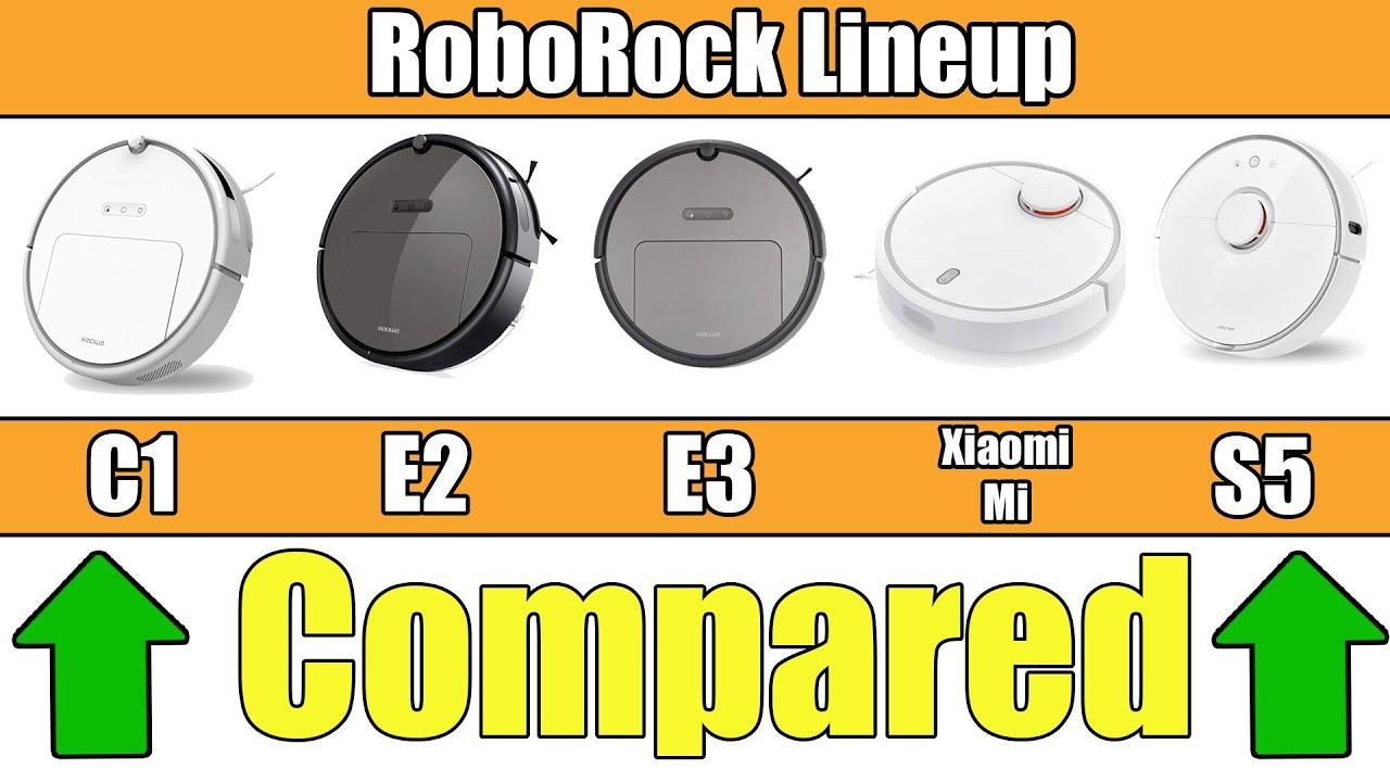 Roborock Robot Vacuums Explained S50 vs S5 vs E25 vs E3 vs C10 vs Xiaomi Mi  1st & 2nd Gen