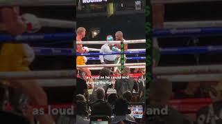 Jake Paul trolling Floyd Mayweather during the Logan Paul fight! #shorts