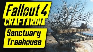 Fallout 4 Treehouse - Base Building Timelapse Sanctuary Hills - Fallout 4 Settlement Building [PC]