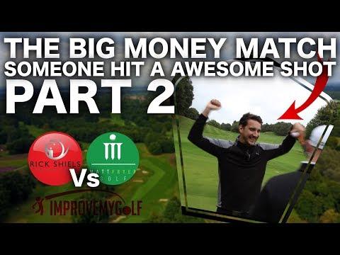 SOMEONE BREAKS THE FLAG! BIG MONEY GOLF MATCH PART 2