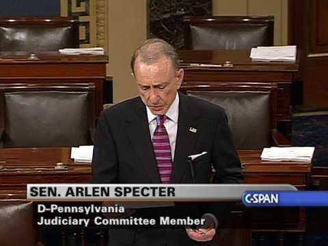 Sen. Arlen Specter (D-PA) on Cameras in the Court
