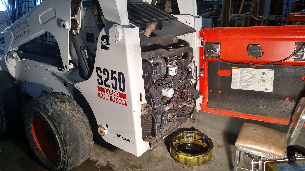 hight resolution of how to change oil on bobcat skid steer