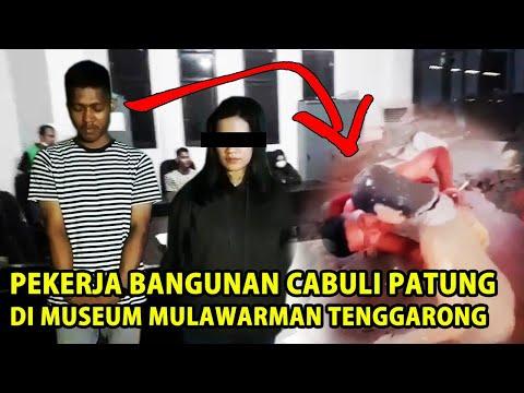 Viral!!! PEKERJA BANGUNAN CABULI PATUNG di Museum Mulawarman Tenggarong