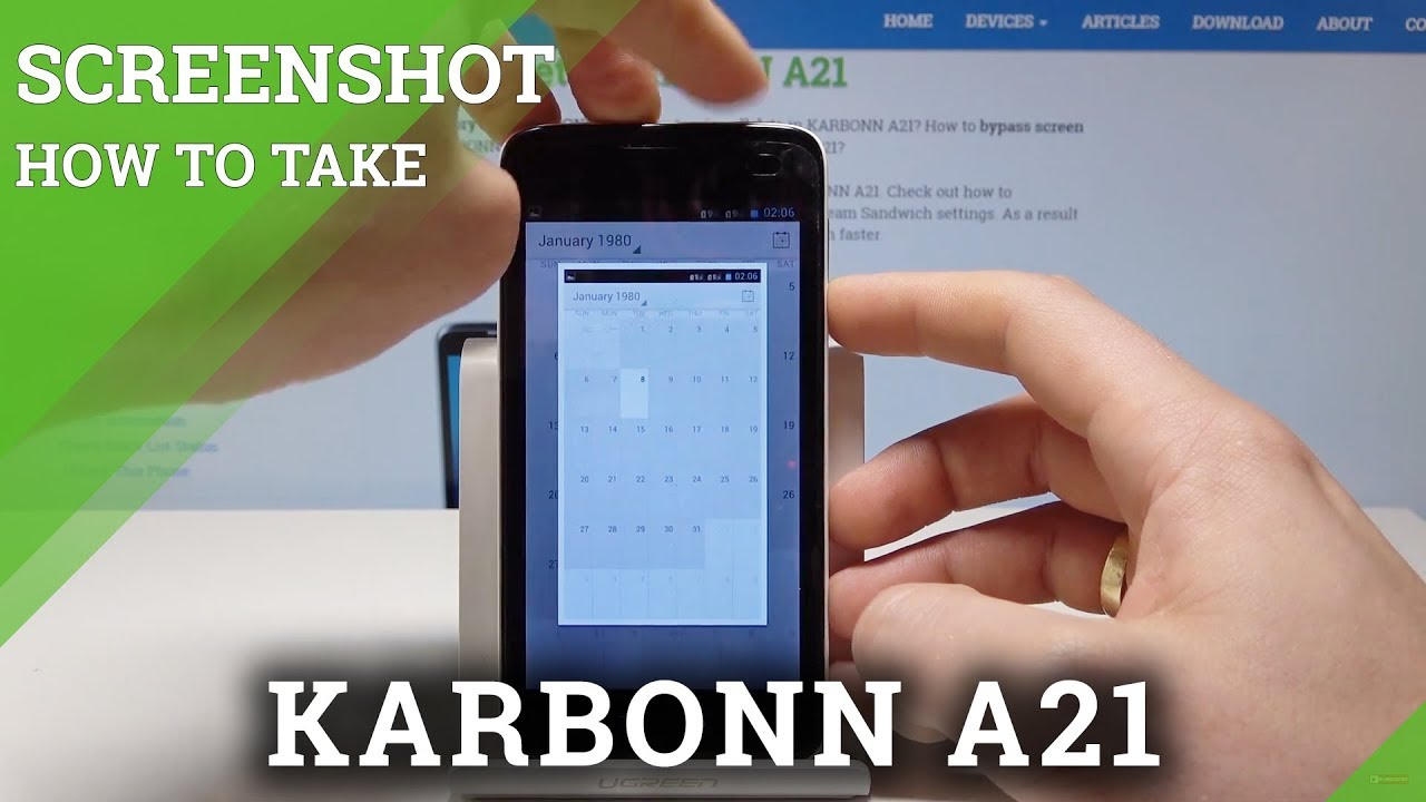 how to take screenshot in karbonn a21