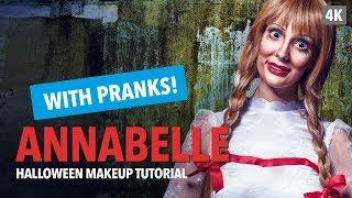 Annabelle Halloween Makeup Tutorial with pranks
