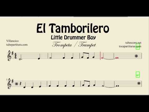 The Little Drummer Boy Sheet Music for Trumpet El Tamborilero