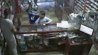 محاولة سرقة  صيدلية , ومواجهة السارقة