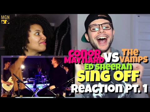 Conor Maynard VS The Vamps - Shape Of You (Sing Off)(Ed Sheeran) Reaction Pt.1