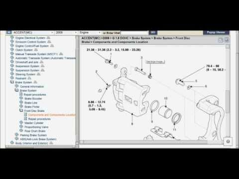 2009 Hyundai Accent service manuals