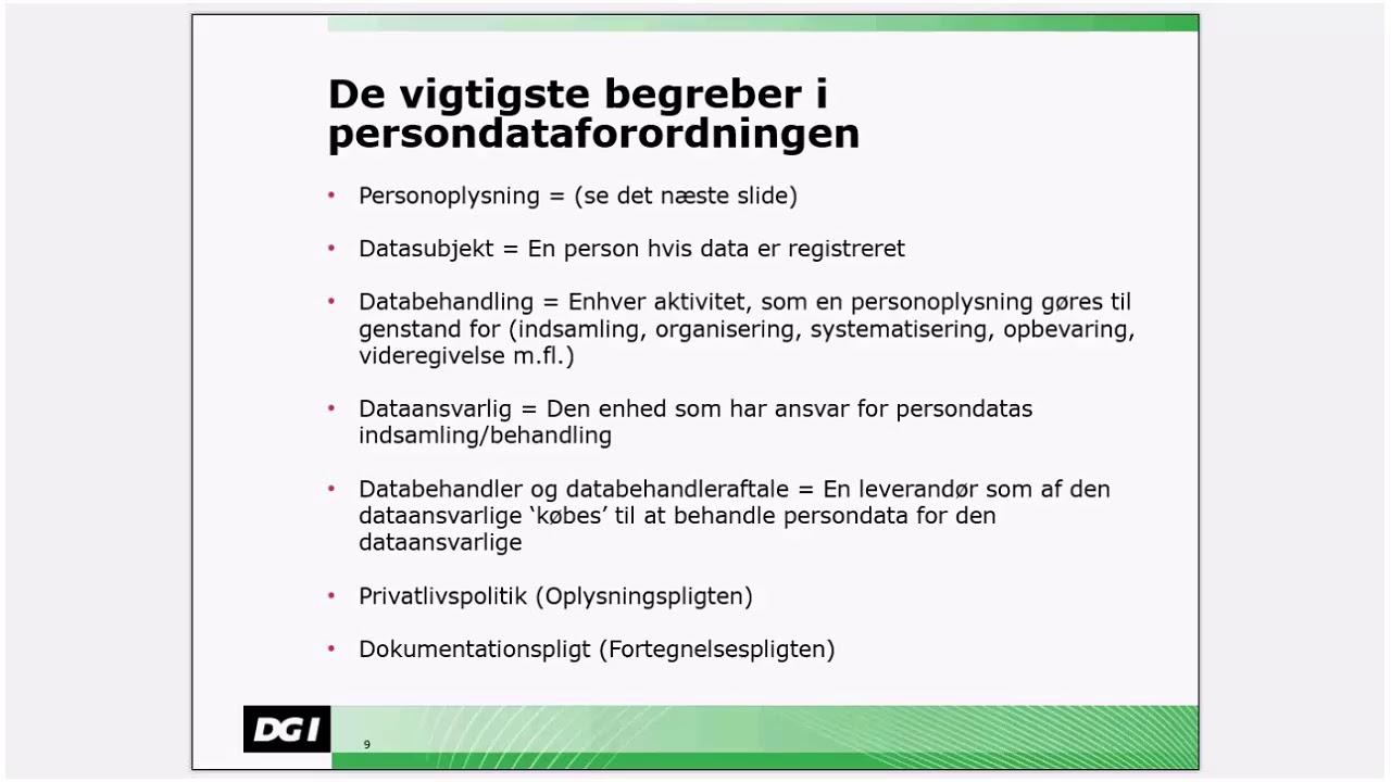 persondataloven vejledning