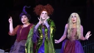 Hocus Pocus Sanderson Sisters first appearance / finale song at Walt Disney World